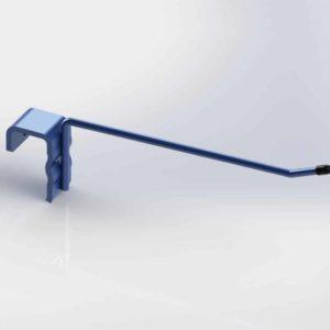 Broche simple – Accroche barre de charge 30×15 avec embout plastique