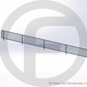 Balcons fil pour tablette perforée