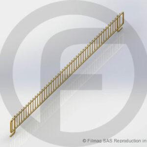 Balcons fil pour tablette rainurée