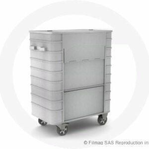 Conteneur aluminium avec porte
