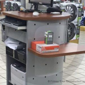 Meuble comptoir ordinateur