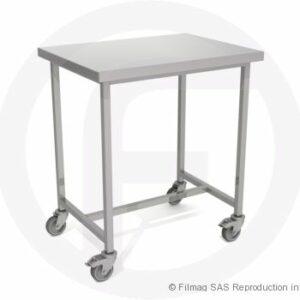 Table modulaire inox à 2 plateaux