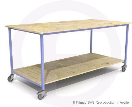 Table modulaire acier à 1 plateau